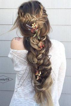 cool Gallery: Glambytoriebliss long wedding hairstyles 25 - Deer Pearl Flowers / www....