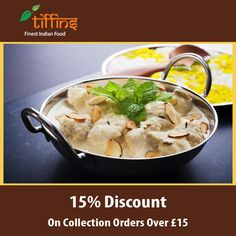 Tiffins Indian Takeaway offers delicious Indian Food in Guildford , Guildford Browse takeaway menu and place your order with ChefOnline. You can pay via cash. Order Takeaway, Indian Food Recipes, Ethnic Recipes, Food Items, Opportunity, Menu, Delivery, Favorite Recipes