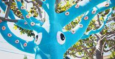 Squid Tree: il piu' bell'albero decorato grazie al Guerrilla Knitting