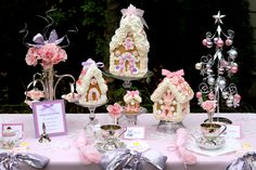 Pink Gingerbread House Tea