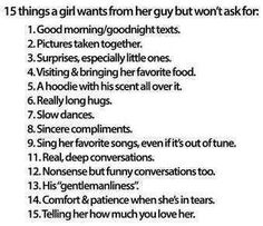What girls want from guys
