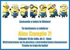 Invitaciones Virtuales Minions Fiesta Cumple 3