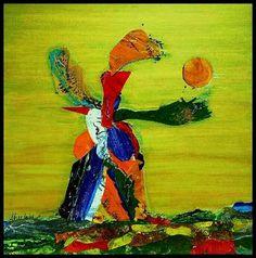 "Saatchi Art Artist Sheetal Gulhati; Collage, ""Seeker"" #art"