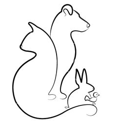 Cat dog rabbit and bird silhouettes logo vector 1098503 - by Glopphy on VectorStock®