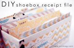 DIY::(Made From) Shoebox -Receipt File