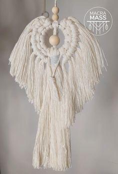 Macrame Wall Hanging Patterns, Macrame Art, Macrame Design, Macrame Projects, Macrame Patterns, Diy Angels, Handmade Angels, Macramé Angel, Christmas Angel Crafts