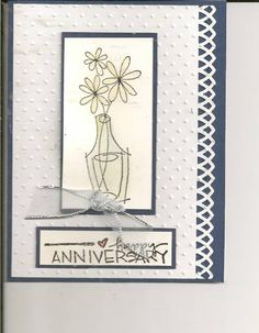 FS128 - An anniversary card in blue and white