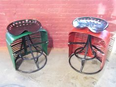 1950s farmall tractor stool by hammeredintime on Etsy