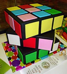 Andrew LOVES Rubik's cubes, and can do them really fast. This would be an awesome birthday cake for him!