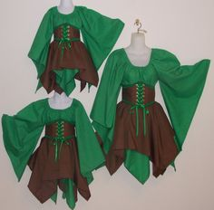 Wood Elf Fairy - childrens renaissance medieval pirate clothes