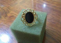 Anel preto folheado a ouro   https://www.elo7.com.br/anel-preto-folheado-a-ouro/dp/7CF0C6   #anel #aneis #folheado #semijoia #bijuteria #bijuteriafina #ouro #preto