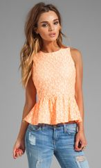 MM Coturue by Miss Me Lace Peplum Tank