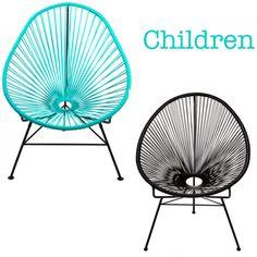 Lovely chairs for children. For inside and outside use. http://www.landromantikk.no/interior/hage-terrasse.html
