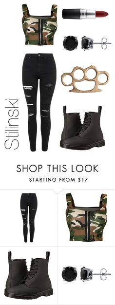 """""""Stilinski"""" by gr8gmm ❤ liked on Polyvore featuring Topshop, WearAll, Dr. Martens, BERRICLE and MAC Cosmetics"""