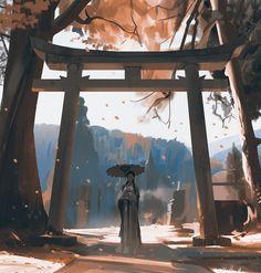 Best Ideas for cherry tree illustration anime art Landscape Concept, Fantasy Landscape, Landscape Art, Fantasy Art, Landscape Design, Illustration Pop Art, Graphisches Design, Concept Art World, Environmental Art