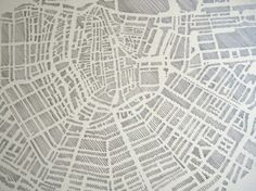 city block print. DIY trace over a map of cities significant to me!