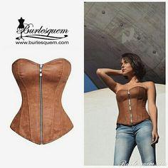 Corset Dagan, Colección Piel. www.burlesquem.com
