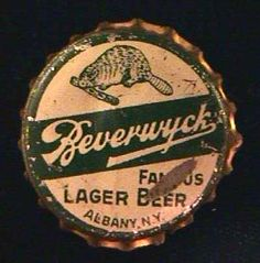 BEVERWYCK FAMOUS LAGER BEER CORK LINED CROWN CAP FOR CONE TOP CAN - ALBANY