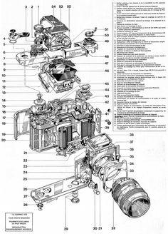 Enjoy the mechanical schematics of those old Nikon F film cameras | Nikon Rumors