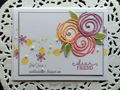 Hi Stampers, I have one more Swirly Bird card to share today: The swirls are three of the newest In-Colors, Peekaboo Peach, Sweet Sug...