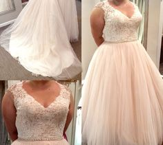 Sleeveless plus size wedding dresses like this can be made to order for a bride of any size. We are in the USA and provide custom #plussizeweddingdresses to brides from all over the country. Get pricing on custom designs & replicas too when you visit our main website.