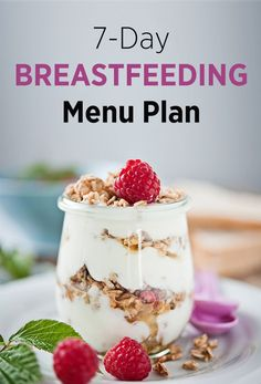 7-Day Breastfeeding Meal Plans / Give your baby a head start for life!