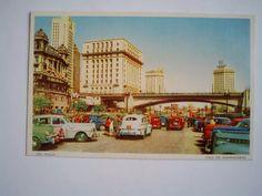 Cartão Postal São Paulo Vale Do Anhangabaú - Carros Antigos - R$ 22,00 em Mercado Livre