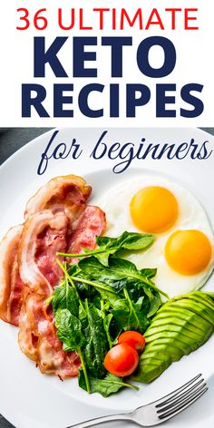 Looking for the ultimate keto recipes for beginners? These 36 best keto recipes have been specially selected for beginners to start a ketogenic lifestyle and lose weight fast. These are the best keto diet ideas for beginners Healthy Low Carb Recipes, Keto Recipes, Vegetarian Recipes, Healthy Food, Dessert Recipes, Diet Cheesecake Recipe, Diet Ideas, Food Ideas, Best Keto Diet