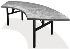 30'' x 60'' Serpentine Alulite Table with Swirl Top w/ H-Style Folding Legs by Southern Aluminum. $610.99. This Serpentine Aluminum Table is lighter than wood or plastic and strong enough to support 4,000 lbs of distributed weight in static load testing All aluminum leg styles are tested to exceed 2,000 lbs. of direct weight on each leg Table tops are constructed of individual boards bolted together and have longitudinal seams Top surfaces are .080'' thick with integral stiffener...