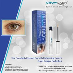 Use #Growlash #Eyelash #Growth Enhancing #Serum & get #Longer #Eyelashes