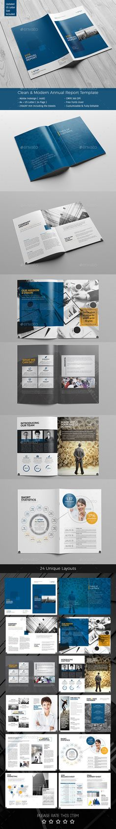 Annual Report Template 48 Pages - annual report template design