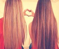 Image via We Heart It https://weheartit.com/entry/143420143/via/23119785 #bestfriends #blonde #brown #hair #hairstyles #heart #longhair #love