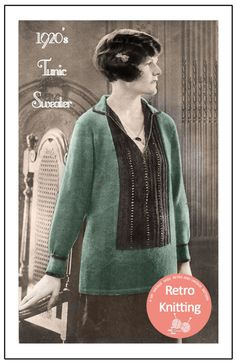 1920s Tunic Sweater Knitting Pattern  PDF by MyVintageWish on Etsy