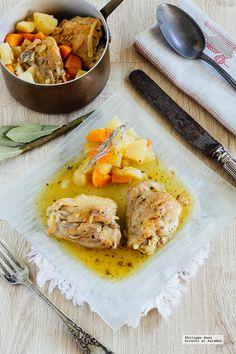 Pollo a la naranja. Receta con fotografías del paso a paso y recomendaciones de degustación. Recetas con pollo...