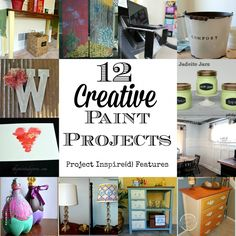 How to Paint Anything! 12 Creative Paint Projects via http://yesterdayontuesday.com