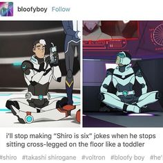 """Shiro will never stop being 6, he's the baby."""