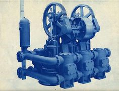blue / machinery, Goulds Manufacturing Co. 1910 (ca)