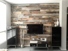 Dramatically Improving Your Space: Stikwood Wood Wall Decor. I'm in love with this Stikwood. Look Wallpaper, Peal And Stick Wallpaper, Wallpaper Wallpapers, Wallpaper Ideas, Peel And Stick Wood, Stick Wood Wall, Peel And Stick Shiplap, Wood Sticks, Pallet Walls