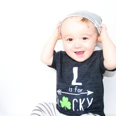 L is for Lucky St Patrick's Day Child t-shirt by blueenvelope