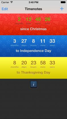 Timenotes on App Store:   Timenotes is an app that allows you to create a reminder which will count years days hours minutes and seconds to or since some of your special dat...  Developer: Manufactura  Download at http://ift.tt/1vMsPgG