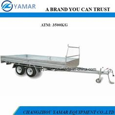 3.5t Dual Axle Flat Top Trailer (8X6; 10X6; 16x8) by Changzhou Yamar Equipment Co., Ltd. Made-in-China.com 3/17 Price Est. $870-$1,900 Each, Minimum Order 1.