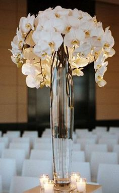 something like this for the altar that could be moved to the reception, only lilies instead?