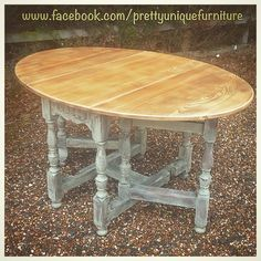 """""""#asap #anniesloan #chalkpaint #distressed #dropleaftable #distressedfurniture #etsy #forsale #handpainted #homemadehome #instahome #loveit #morethanpaint #paintedfurniture #prettyuniquefurniture #priory #refurbished #shabby #shabbychic #table #upcycled #vintage"""" Photo taken by @prettyuniquefurniture on Instagram, pinned via the InstaPin iOS App! http://www.instapinapp.com (02/19/2015)"""