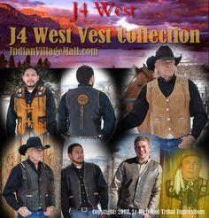 Men's J4 West Western Vests Inside Tribal Impressions. Shop online off of: http://www.indianvillagemall.com/smvests.html