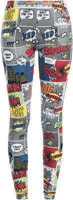 Leggings from R.E.D. by EMP: - All-over comic print - Closure: elasticated waist - Long