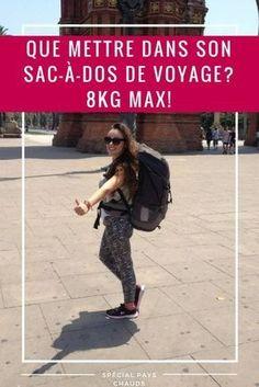 Que prendre en voyage lorsqu'on part en sac-à-dos? Je vous donne mes conseils et vous détaille le contenu de mon backpack pour un sac-à-dos de 8kilos! Article spécial pays chauds. #sacàdos #backpack #voyage #conseilvoyage