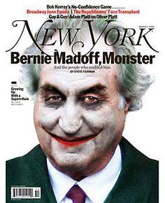 New York magazine covers-Bernie Madoff