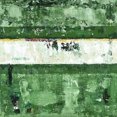 """Leeway is a green 30x30"""" textured abstract landscape painting by Shawn McNulty. ©2009"""