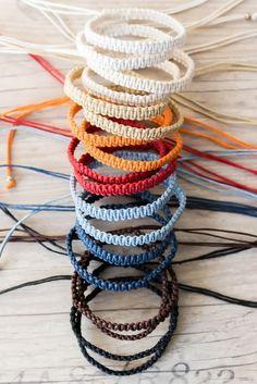 Surfer bracelet Macrame bracelet Hippie gift Friendship bracelet Bff bracelet Macrame jewelry Stackable bracelets by ElvishThings on Etsy