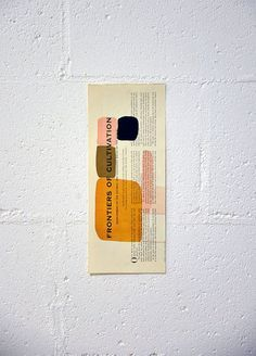 organic frontiers on recycled paper.